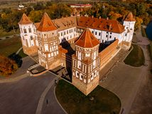 Castle Mir complex monument of Belarus royalty free stock image