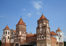 Castle in Mir town in Belarus Royalty Free Stock Photo