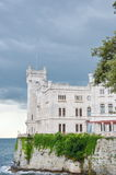 Castle. Miramare Castle in Triest, Italy Stock Images