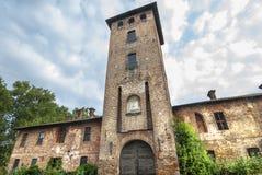 Castle of Mirazzano (Milan) Stock Photos