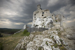Castle in Mirow, Poland stock photo