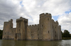 Castle with moat Royalty Free Stock Image