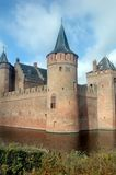 Castle with moat Royalty Free Stock Photos