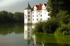 Castle with moat, Glucksburg, Germany Stock Image