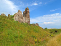 Castle moat and ruins Stock Photos