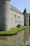Castle moat, rumigny, ardennes Royalty Free Stock Photography