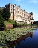 Castle and moat, Warwick, England. Stock Photos
