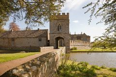 Castle moated Stock Photography
