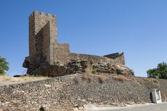 Castle of Mogadouro - Portugal royalty free stock images