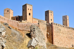 Castle of Molina de Aragon. Guadalajara Royalty Free Stock Photography