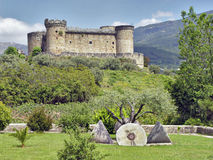 Castle Mombeltran, mountain range of Gredos, Spain Royalty Free Stock Photos