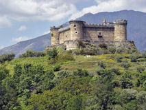 Castle Mombeltran, mountain range of Gredos, Spain Stock Images