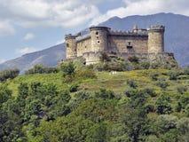 Castle Mombeltran, mountain range of Gredos, Spain Stock Images