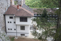 Castle monastery. Orthodox Monastery Manasija, XV century Despotovac city Serbia Royalty Free Stock Photo