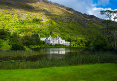 Castle and Monastery Kylemore Abbey in Ireland Royalty Free Stock Photography