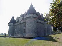 Castle Monbazillac σε Périgord στοκ εικόνες