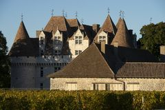 The castle of Monbazillac, Sweet botrytized wines have been made in Monbazillac stock image