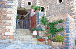 Castle at Monemvasia Lakonia Peloponnese Greece Royalty Free Stock Photography