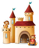A castle with monkeys Royalty Free Stock Photos