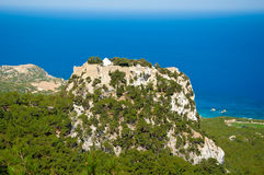 The castle of Monolithos. Rhodes, Greece. Stock Photography
