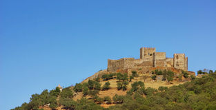 Castle of Monsaraz. Castle of Monsaraz village, Portugal Stock Photo