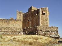 Castle of Montalban, Toledo, Spain. The castle of Montalban (s.XII), was built by the Templars, on the ruins of an Arab fortress on the river Torcon. Close to Royalty Free Stock Photography