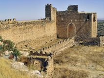 Castle of Montalban, Toledo, Spain. The castle of Montalban (s.XII), was built by the Templars, on the ruins of an Arab fortress on the river Torcon. Close to Stock Photography