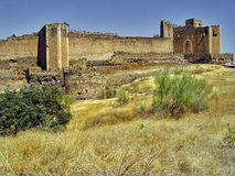 Castle of Montalban, Toledo, Spain. The castle of Montalban (s.XII), was built by the Templars, on the ruins of an Arab fortress on the river Torcon. Close to Royalty Free Stock Images