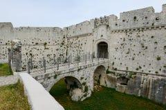 Castle Monte Sant'Angelo στην Πούλια Στοκ Φωτογραφία