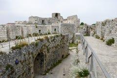 Castle Monte Sant'Angelo στην Πούλια Στοκ Φωτογραφίες