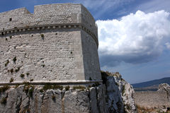 Castle of Monte Sant'Angelo, South Italy Royalty Free Stock Photo