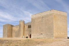 Castle of Montealegre de Campos, Tierra de Campos region, Valladolid province, Castilla y Leon, Spain. Castle of Montealegre de Campos, Tierra de Campos region stock image