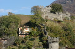 Castle Montebello at Bellinzona Stock Photo