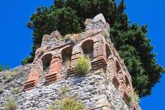 Castle of Montebello. Emilia-Romagna. Italy. Perspective of the Castle of Montebello. Emilia-Romagna. Italy Stock Photography