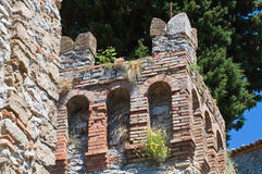 Castle of Montebello. Emilia-Romagna. Italy. Detail of the Castle of Montebello. Emilia-Romagna. Italy Stock Photo