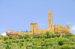 The Castle of Montecchio Vesponi Royalty Free Stock Images