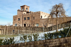 Castle of montenovo Stock Photos