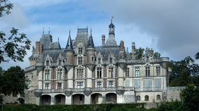 Castle montigny LE gannelon, περίοδος αναγέννησης στοκ εικόνες