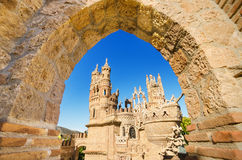 Castle monument of Colomares on April 28, 2014 Stock Photos