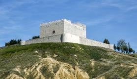 Castle Monzon de Campos Stockfoto