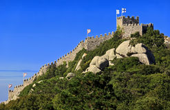 Castle of the Moors ( Castelo dos Mouros ). Medieval castle in Sintra, Portugal. Castle of the Moors ( Castelo dos Mouros ). Medieval castle in Sintra, Portugal Royalty Free Stock Photo