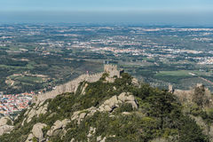 Castle of the Moors Castelo dos Mouros, Sintra, Portugal Royalty Free Stock Photography