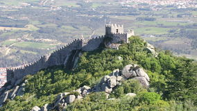 The castle of the Moors stock video