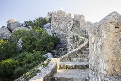 Castle of the Moors 1. The Castle of the Moors (Portuguese: Castelo dos Mouros) is a hilltop medieval castle located in the central Portuguese civil parish of Stock Photos