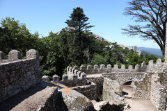 Castle of the Moors, Sintra Royalty Free Stock Photo