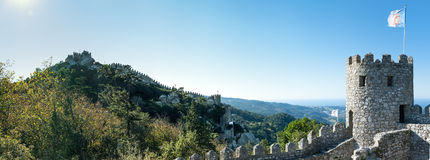 Castle of the Moors - Sintra Stock Photo