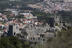 Castle of the Moors at Sintra near Lisbon in Portugal Royalty Free Stock Photography