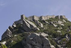 Castle of the Moors in Sintra Royalty Free Stock Images