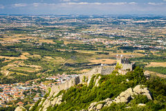 Castle of Moors in Sintra, Portugal Stock Photography