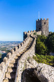 Castle of moors in Sintra, Portugal Stock Photos